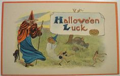"Vintage Halloween Postcard ""BARTON & SPOONER"" BS | Flickr - Photo Sharing!"