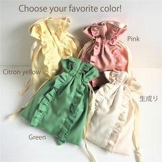 ストレートライン ダブルフリル巾着ポーチ 生成り Japanese Bag, Potli Bags, Diy Bags Purses, Linen Bag, Fabric Bags, Girls Bags, Cute Bags, Cotton Bag, Zipper Bags