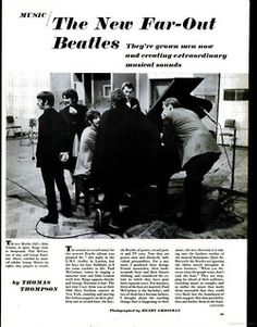 March Newspaper article feature on the boys at work on their new masterpiece. The band had generated quite a mystique around their enigmatic new project. Beatles Art, The Beatles, Beatles Sgt Pepper, George Martin, 50 Years Ago, Newspaper Article, Lonely Heart, The Fab Four, Ringo Starr