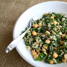 Lemon Garbanzo Kale Salad  Kale Recipes