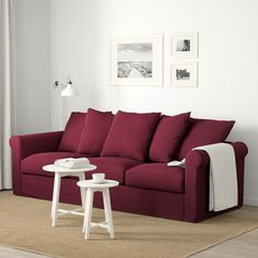 IKEA GRÖNLID sofa The cover is easy to keep clean since it is removable and machine washable. At Home Furniture Store, Modern Home Furniture, Affordable Furniture, Red Couch Living Room, New Living Room, Cozy Living, Small Living, Canapé Design, Deep Seat Cushions