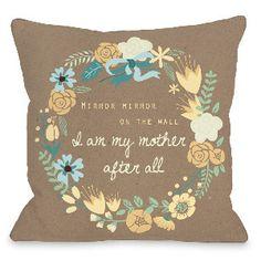 One Bella Casa 16 Mirror Mirror Pillow in Brown