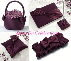 Gorgeous Plum Wedding Set