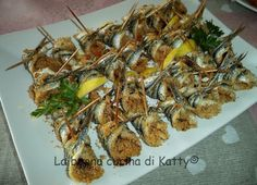 La buona cucina di Katty: Alici a beccafico alla palermitana ... fatte da me! - anchovies warbler Palermo style ..... made by me!