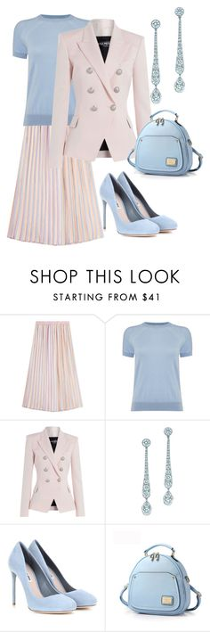 """""""Off To The Office"""" by naviaux ❤ liked on Polyvore featuring Marco de Vincenzo, Michael Kors, Balmain, Tiffany & Co. and Miu Miu"""