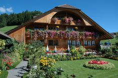 Ringoldswil (Canton Bern) - Restaurant Krindenhof ~ not too far away from Lake Thun! I was told that the owner does all the gardening by herself, very impressive and beautiful, I couldn't stop walking around and admire the beauty of this Restaurant garden!