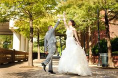 Bride & groom high five. --Photo by The Minnericks #wedding #Houston