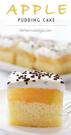Apple Pudding Cake - creamy, moist and delicious autumn dessert - kitchennostalgia.com