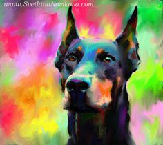 doberman pincher painting by www.SvetlanaNovikova.com, via Flickr