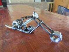 Micro Chopper with ammo shell exhaust, JPlaiaSteelArt Welding Art Projects, Welding Crafts, Metal Art Projects, Metal Crafts, Recycled Metal Art, Scrap Metal Art, Sculpture Metal, Car Part Furniture, Welding And Fabrication