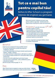 Program after-school cu engleza/germana intensive. http://www.britanica.ro/cursuri-examene/after-school-cu-limbi-straine-si-activitati.html