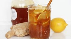 antiviral-drink-prepared-with-only-3-ingredients-highly-effective  2 small lemons, use the rind as well 1 medium-sized ginger (5 cm) 7 oz /200 grams raw honey -