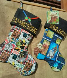 """My grandson said he wanted a new """"Cool"""" stocking.  Star Wars Christmas stocking"""