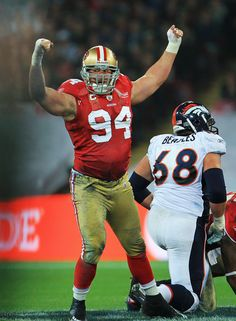 c4b9a1be2f2 Justin Smith after a sack HOO-RAH 49ers Players
