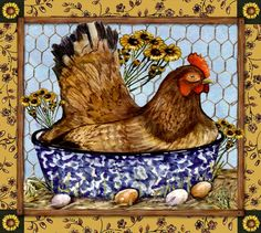 Rooster Painting, Rooster Art, Painting On Wood, Rooster Kitchen Decor, Rooster Decor, Chicken Painting, Chicken Art, Decoupage, Chicken Quilt