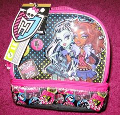 Monster High Lunch Box.  Newly released design. Great for back-to-school.