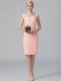 9f3dcac086847 V-neck Lace Dress Peach Bridesmaid Dresses, Designer Bridesmaid Dresses,  Wedding Bridesmaids,
