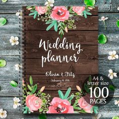 Rustic wedding binder Printable wedding planner by ClaireTALE