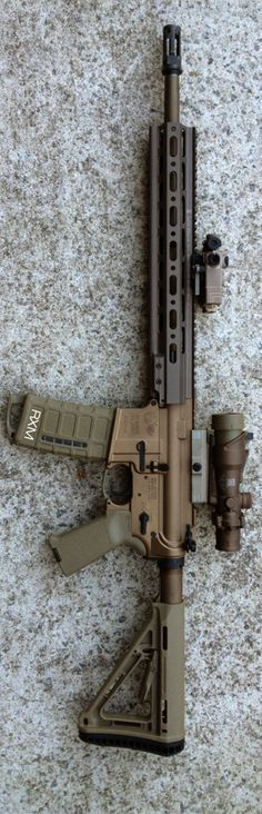 buddyhoohaw's FDE anodized Colt 6920 with Geissele MKII rail.