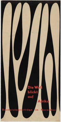Otl Aicher, Die Welt blickt auf Afrika. 1950  moma.org