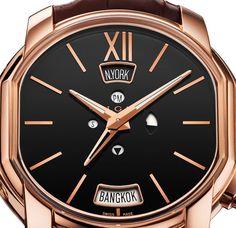 Bulgari Hora Domus Dual Time Zone Watch With Daylight Savings Adjustability