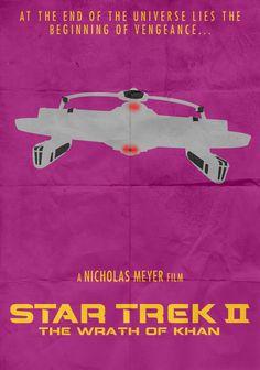 The Wrath of Khan Star Trek Symbol, Star Trek Ii, Star Trek Ships, Star Trek Characters, Star Trek Movies, Star Trek Posters, United Federation Of Planets, Star Trek Starships, Love Film