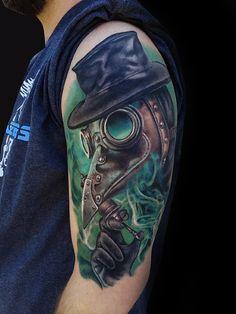 60 Plague Doctor Tattoo Designs For Men