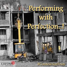 Here is a picture of a construction site showing the Lakshya #ConstructionTeam with machines. For the #BestConstructionEquipments and #ConstructionMachinesOnRent, visit >>> http://lakshyasolution.com/ OR Call: +91 - 8889303786