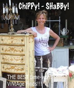 Chippy!-Shabby!.  Vintage chippy and shabby ideas.