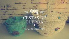 No te pierdas los pasos para elaborar estas cestas con cuerda y decoupage. ¡Ideales para guardar y decorar!