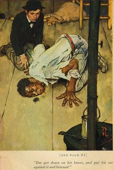 Norman Rockwell. Illustration for The Adventures of Huckleberry Finn.