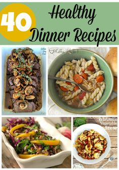 Looking to start the year off right? Or just looking for better dinners to serve your family? Check out these 40 great healthy dinner recipes.