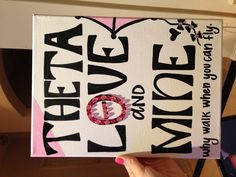 Card or note idea for a Kappa Alpha Theta sister. #theta1870 #thetadiy