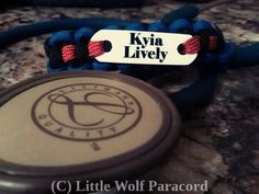 Custom Paracord Stethoscope ID Tag by LittleWolfParacord on Etsy