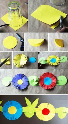 Çiçekli Süs Yapımı | OkulöncesiTR Preschool Kindergarten