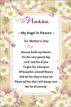 IN LOVING MEMORY KEEP SAKE NANNA FLOWERS MOTHER S DAY GRAVE MAM MOTHER N