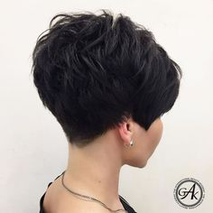 Short Hairstyles For Thick Hair, Haircut For Thick Hair, Short Pixie Haircuts, Short Hair Cuts For Women, Curly Hair Styles, Medium Hairstyles, Short Cuts, Bob Hairstyles, Black Hairstyle