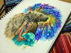 Яркие цветные татуировки и рисунки Ники Самариной