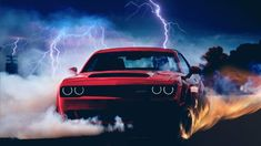 Dodge Challenger SRT Demon Production Has Officially Begun Look for these hell-raisers to start roaming the streets and drag strips soon. Doge Challenger, Dodge Challenger Hellcat, Dodge Challenger Srt Hellcat, Dodge Srt, 2018 Dodge Demon, Mustang Wallpaper, R35 Gtr, Dodge Muscle Cars, Car Backgrounds