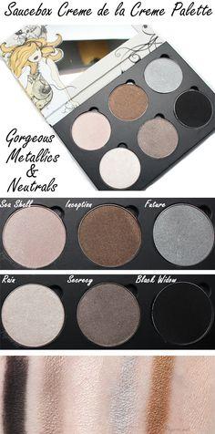 Saucebox Cosmetics Creme de la Creme palette. This is a great mix of neutrals and metallics!