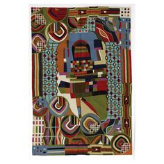 Hundertwasser Rug x cm - Casafina Jewelry Crafts, Handmade Jewelry, Wood Burner, Unusual Gifts, Christmas Traditions, Discount Designer, Christmas Home, Wool Rug, Home Accessories