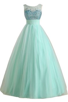 3762971c865 Sunvary Mint Ball Gown Tulle Rhinestone Pageant Prom Quinceanera Dresses  2016 at Amazon Women s Clothing store