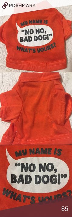 "Dog XS Tshirt Like new. Looks never worn. Size XS measurements: width 5.5"" length 6.5"" Accessories"