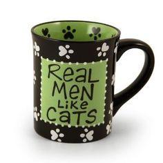 Real men like cats. #mug
