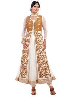 White Embroidery Work Net Anarkali Designer Suit http://www.angelnx.com/Salwar-Kameez/Anarkali-Suits