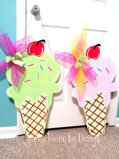 ICE CREAM CONE for Summer Birthday Party by SouthernByDesignCo, $30.00