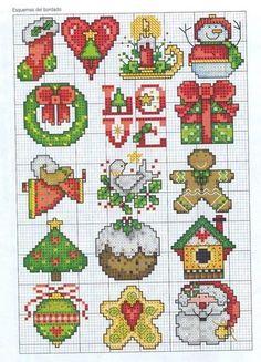 Cross stitch: Christmas ornament motifs