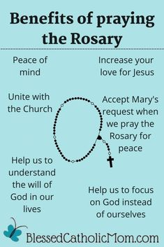 There are many benefits of praying the Rosary. We can grow closer to God, understand His will for us, have peace of mind, and increase our love for Him. #PrayTheRosary #CatholicPrayers #Pray #Rosary #BlessedVirginMary Catholic Marriage, Catholic Prayers, Rosary Catholic, Rosary Prayer, Praying The Rosary, The Good Catholic, Jesus Sacrifice, Deeper Life, Jesus Lives