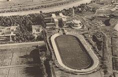 Foro Mussolini (poi Italico) in costruzione... ripresa aerea del 1933...