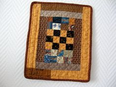 mini_quilt_orange_et_bleu_011 repro of doll quilt in The American Quilt..1840-1865
